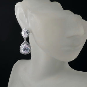 imitation diamond bridal earrings and jewelry