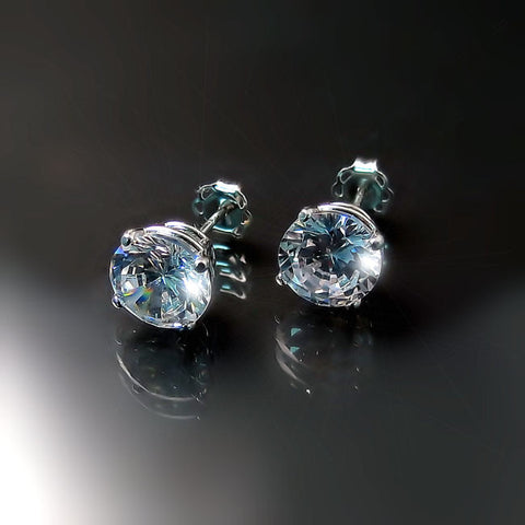 imitation diamond solitaire studs