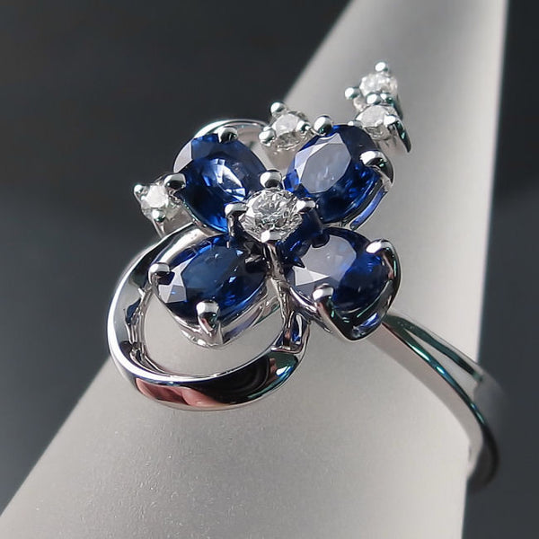 Jewelry with Sapphires and Diamonds
