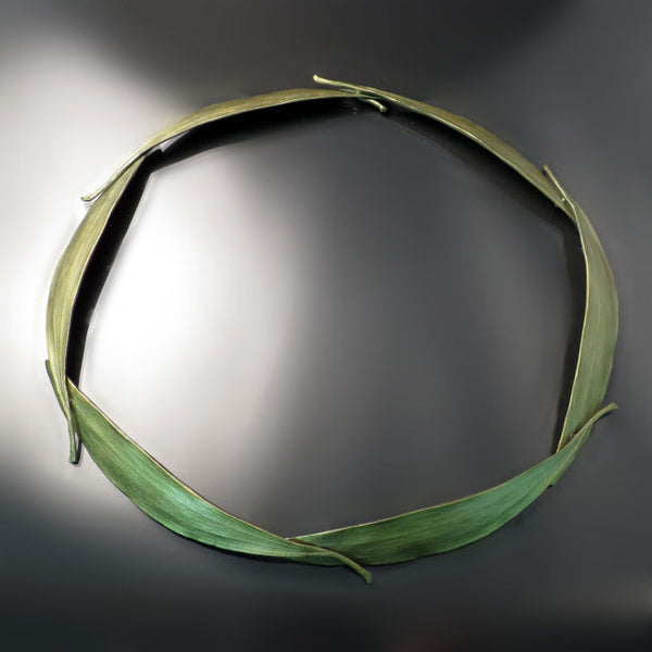 Eucalyptus Leaf Collar Necklace