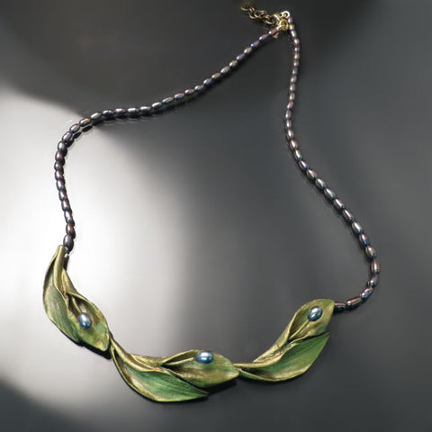 Leaf Necklace by Michael Michaud