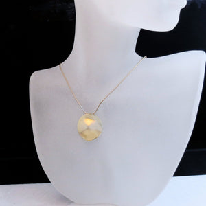 modern minimalist jewelry medallion necklace