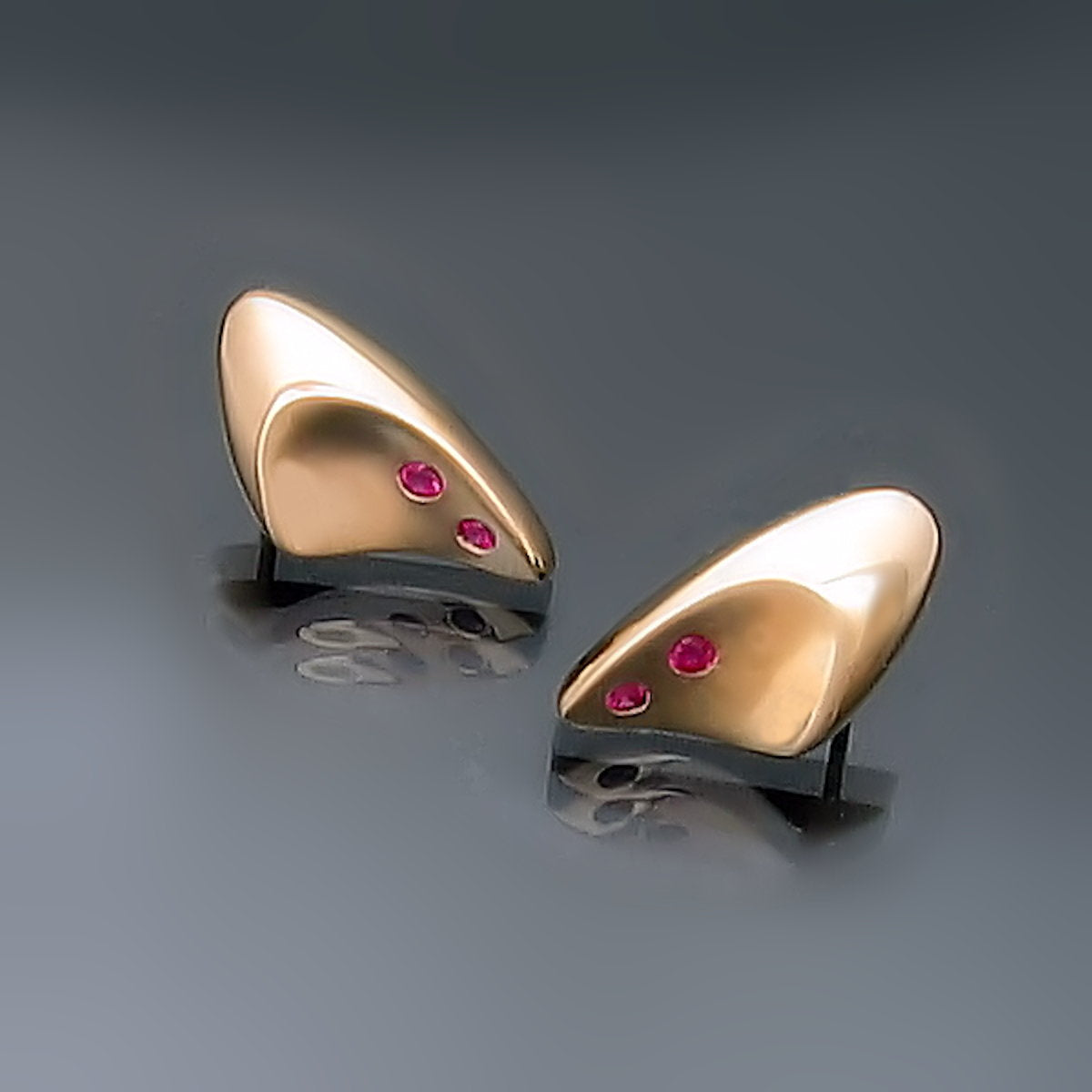 Modern Minimalist Yellow Gold Earrings