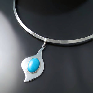 Modern Turquoise Choker Necklace