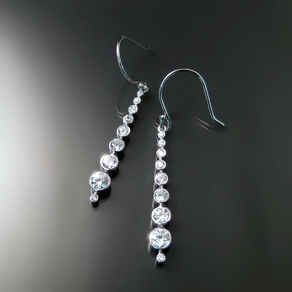 modern cz bridal jewelry line earrings
