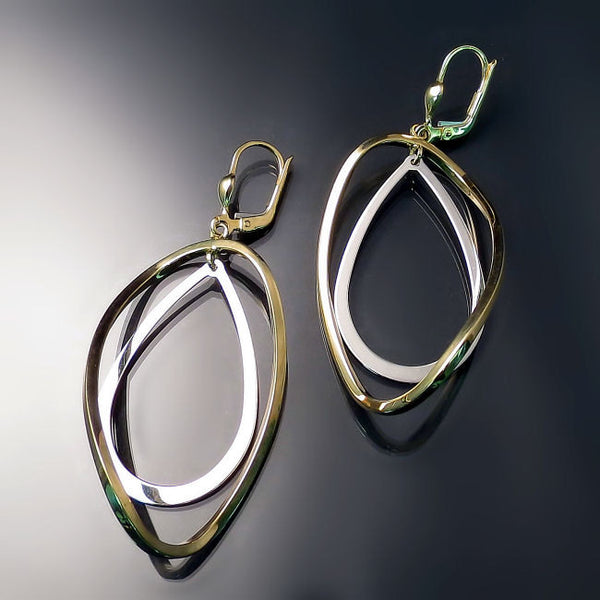 Modern Gold Statement Earrings