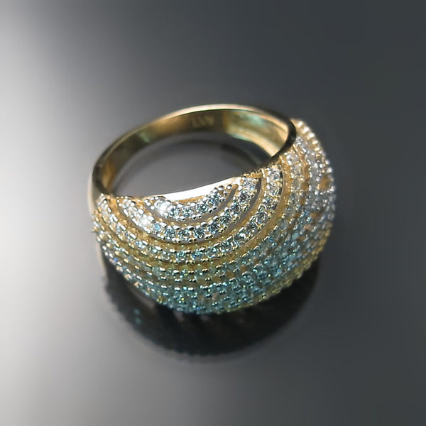 modern gold jewelry cocktail ring