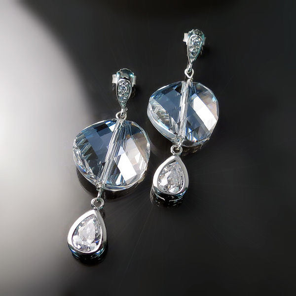 Swarovski Crystal Earrings - Contemporary Designer Jewelry