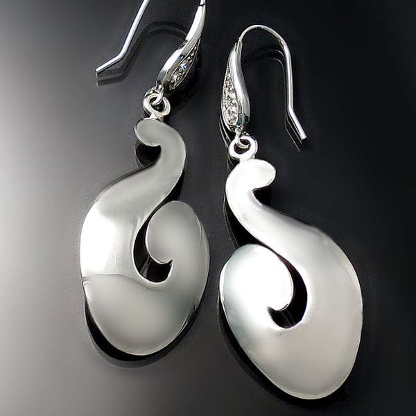 modern jewelry silver earrings