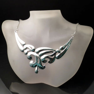 Modern Silver Statement Necklace