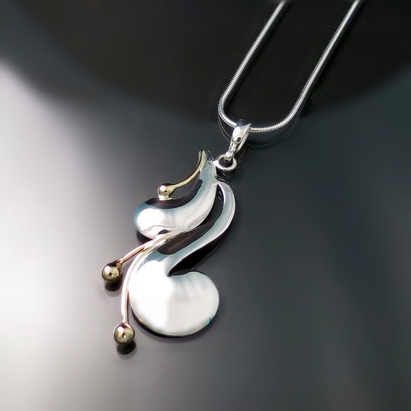 Modern Jewelry Design Ideas: Modern Jewelry Two Tone Pendant