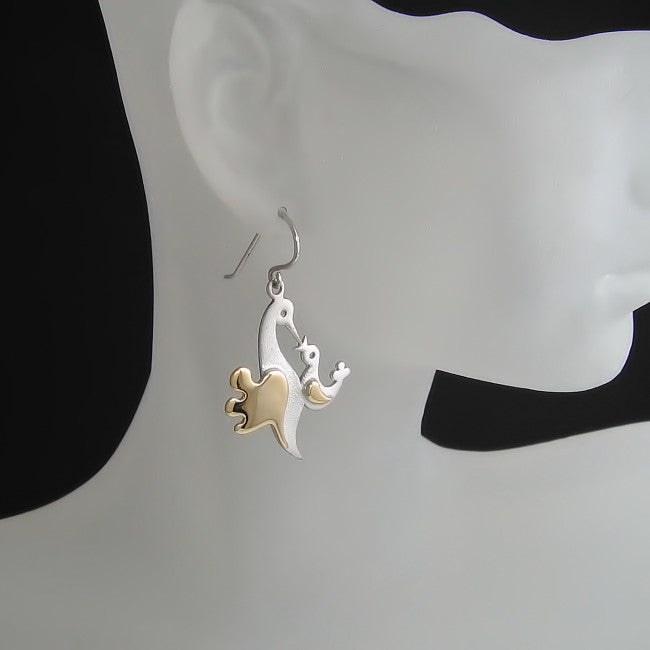 Mother's Day Gifts: Baby bird and Mama bird earrings
