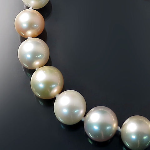 Pastel Pearl Necklace Peach Pink Lilac