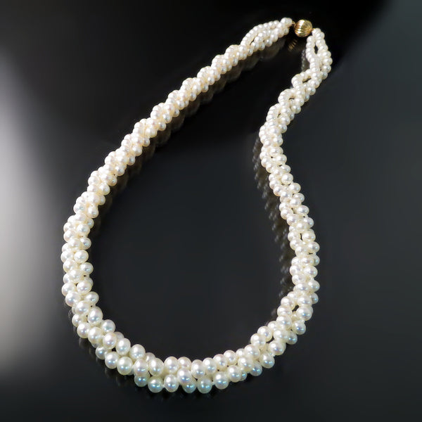 Pearl Jewelry: pearl necklace multistrand white freshwater pearls