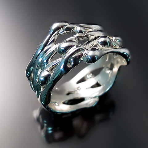 organic ring sterling silver