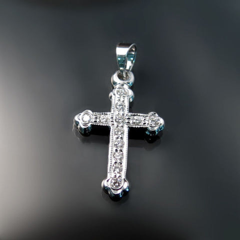 Baptismal Orthodox crosses with diamonds