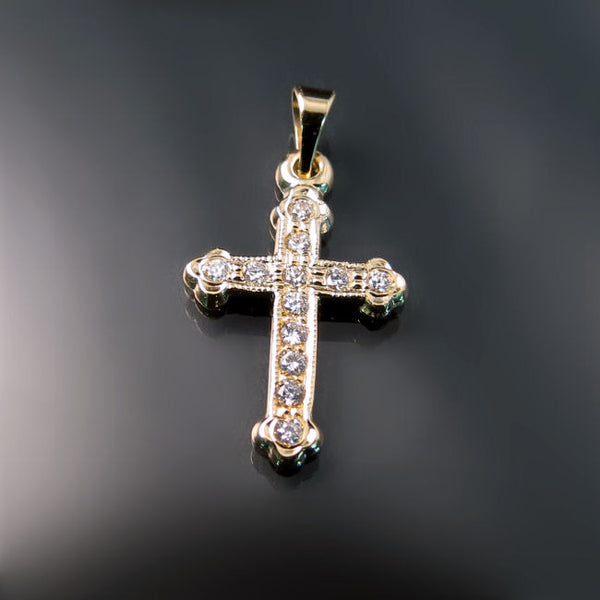 Diamond Cross Pendants for Orthodox Baptism