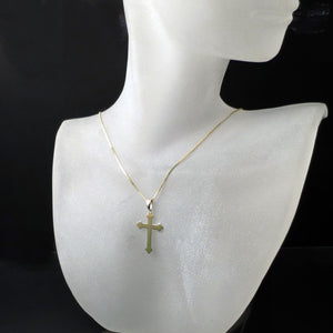 orthodox gold cross and chain