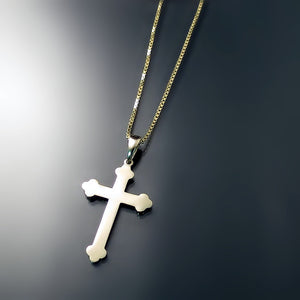 gold orthodox cross and chain