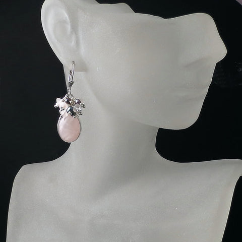 pink jewelry rose quartz earrings