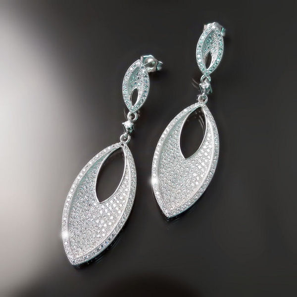 Imitation Diamond Bridal Earrings