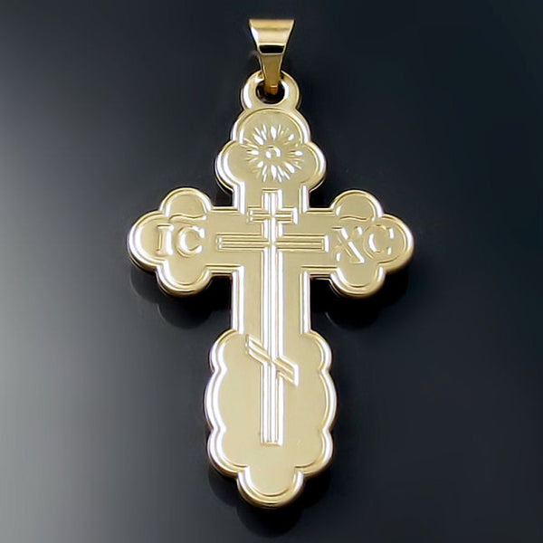 russian greek ukrainian orthodox cross pendant