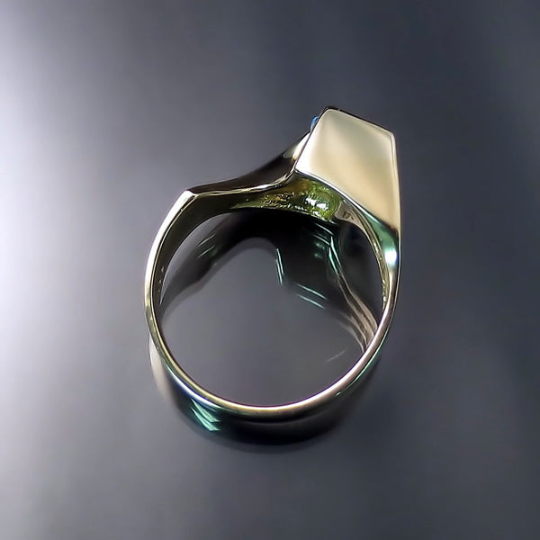 sculptural ring tension setting