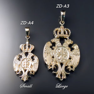 Serbian eagle coat of arms pendants