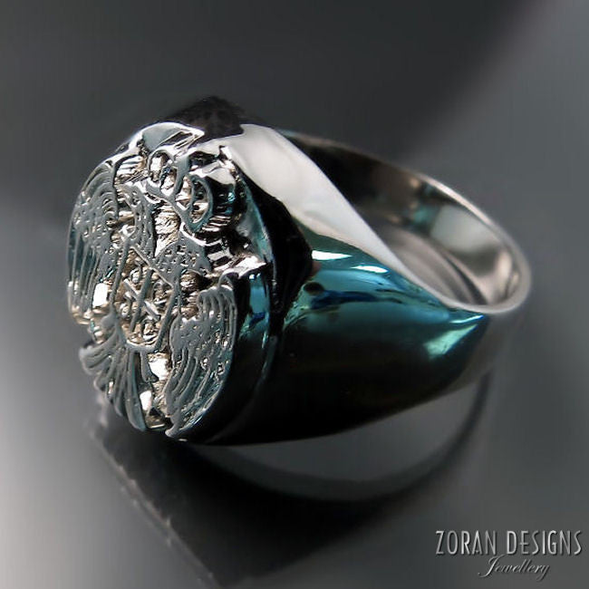 serbian eagle men's ring