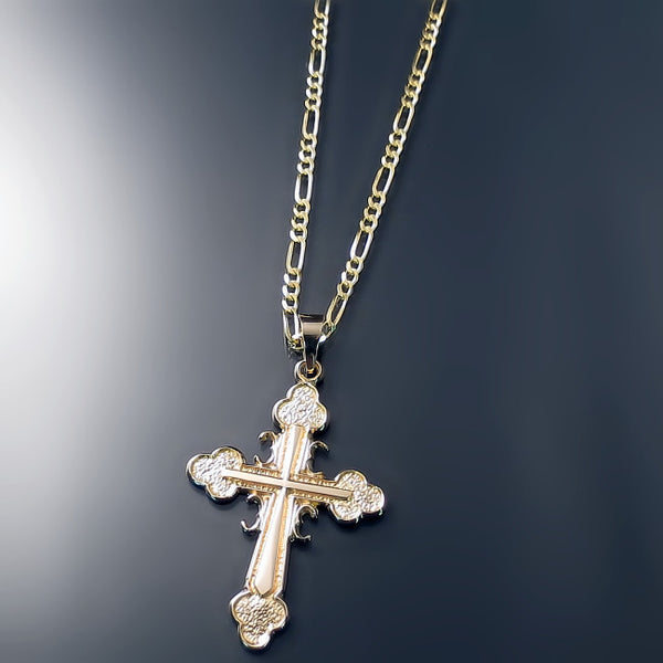 gold serbian orthodox cross and chain