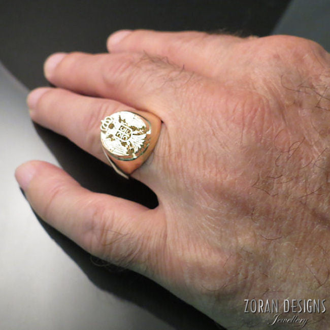 serbian men's ring