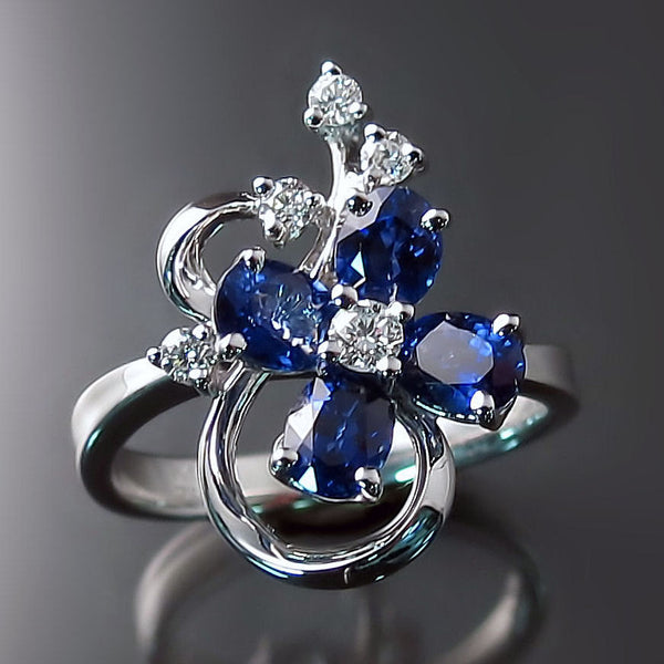 Shop Blue Sapphire Rings Diamond Designer Jewelry