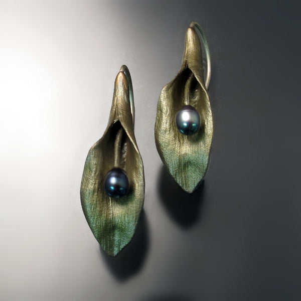 Silver Seasons Jewelry Hosta Leaf Earrings