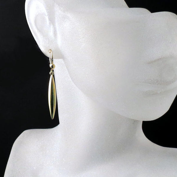 spear earrings in gold