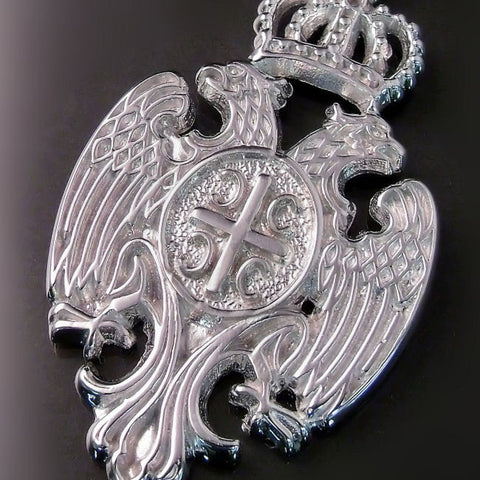 Serbian crest two headed eagle coat of arms pendant jewelry