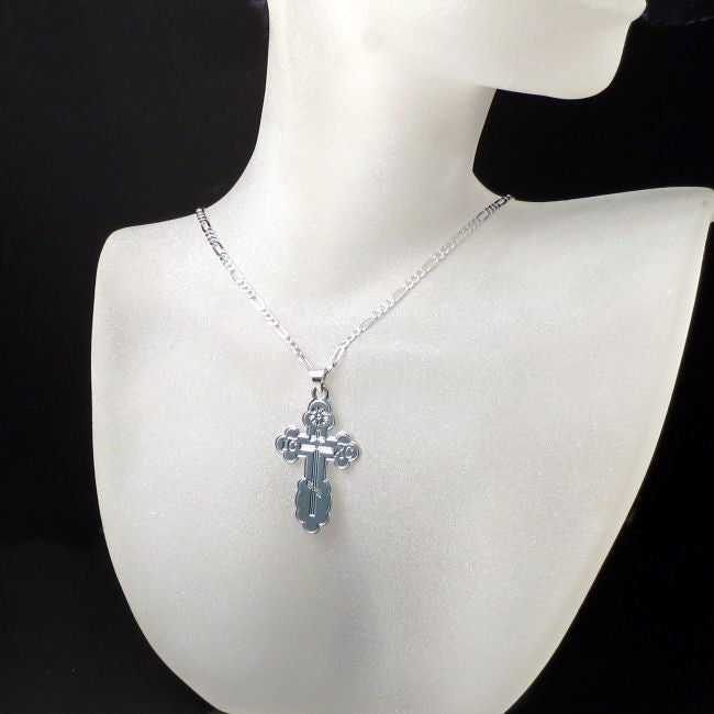 st.olga orthodox cross necklace