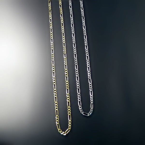 14K gold figaro chains