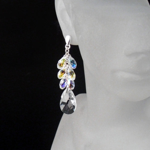 Crystal Bridal Earrings - Bridal Jewelry Crystal