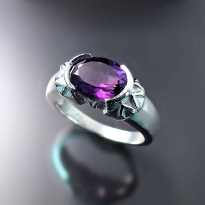 Unique Amethyst Ring