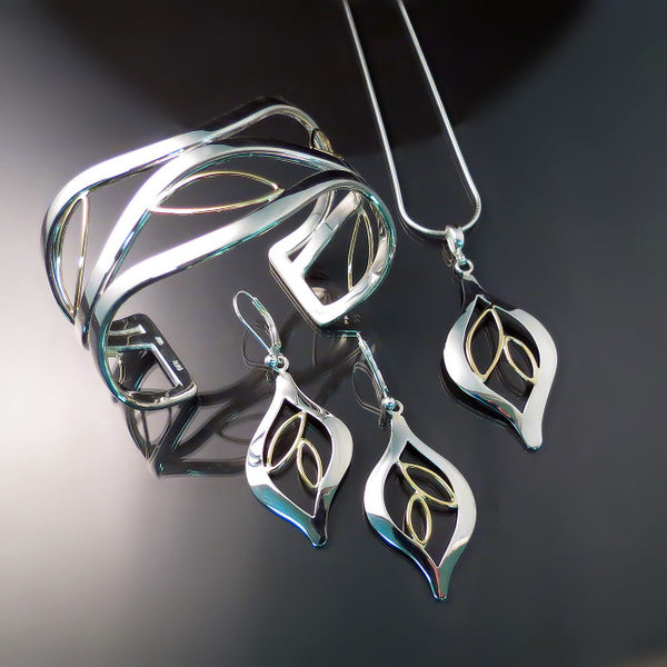 Leaf Jewelry in Silver and Gold
