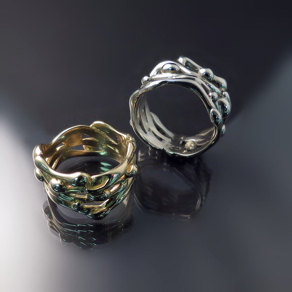 Organic Design Wedding Bands
