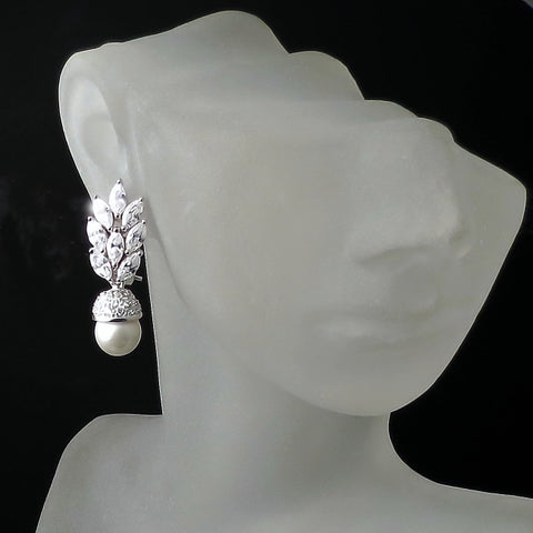 vintage bridal earrings