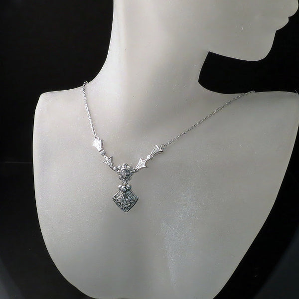 Imitation diamond necklace - CZ wedding jewelry