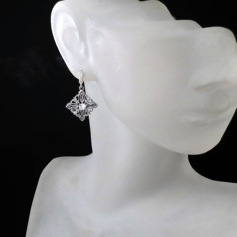 vintage art deco bridal earrings