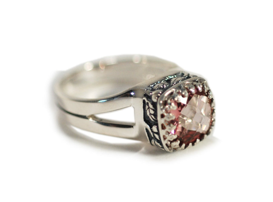 Sterling Silver Crown Jewels Ring (1193MG)