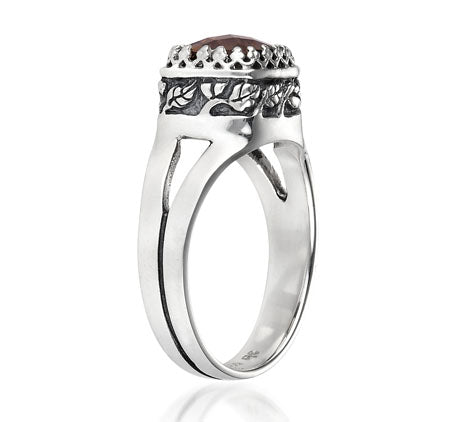 Sterling Silver Crown Jewels Ring (1193ST)