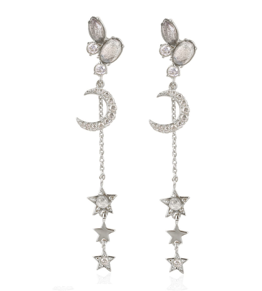 Moon/Star Dangle Earrings (ESI119491)