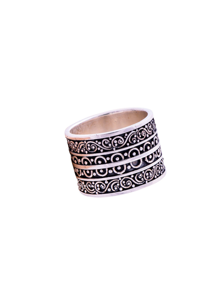 Sterling Silver Filigree Band (1206)