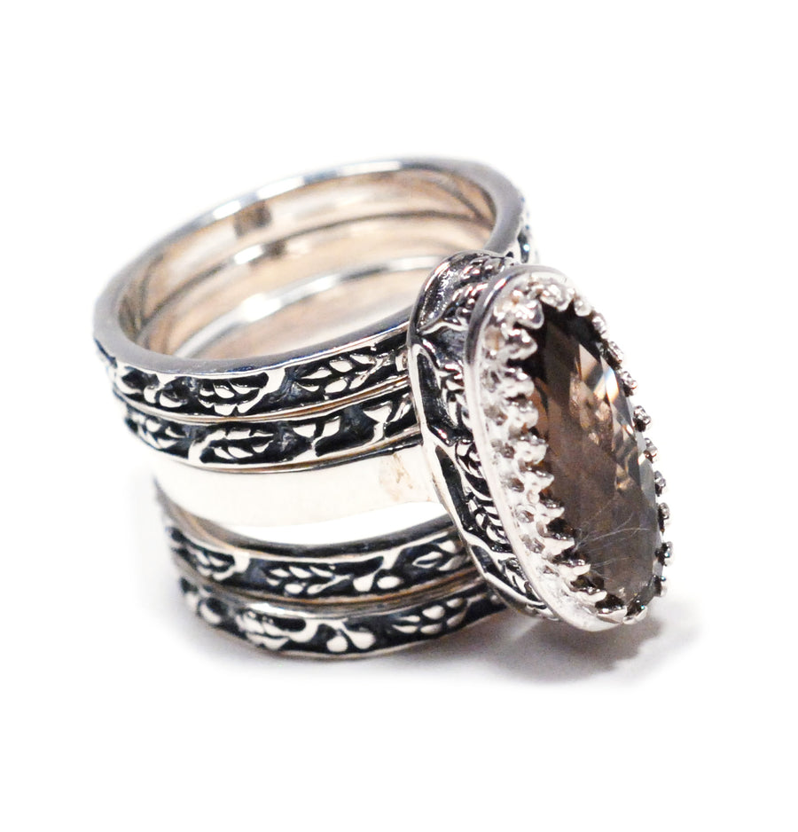 Sterling Silver 5-Stack Ring (1209ST)