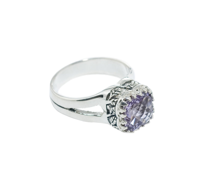Sterling Silver Crown Jewels Ring (1251RDF)